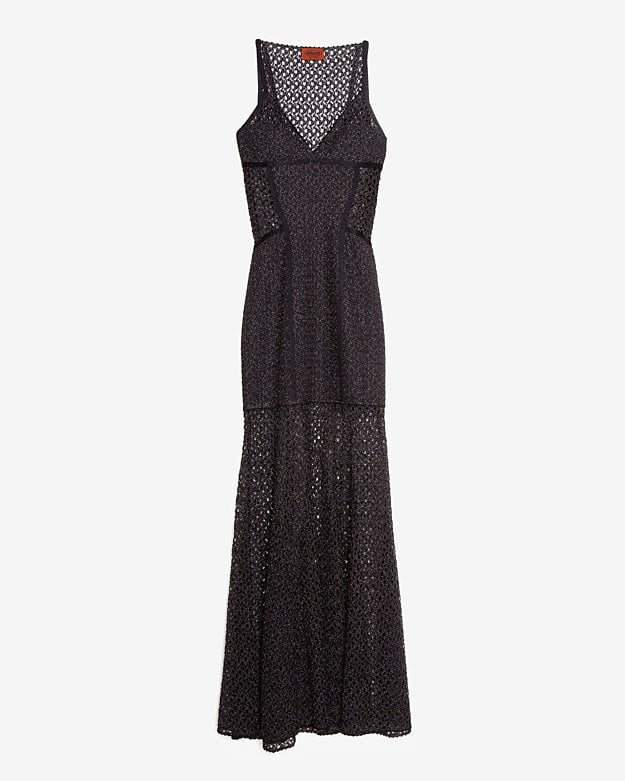 Carefree but slinky, we're inclined to think Missoni nailed the hippie chick's black-tie dress ($2,490).