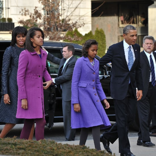 Sasha and Malia Obama Inaugural 2013