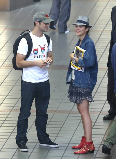 Joseph Gordon-Levitt and Marion Cotillard Share a Hug Before TIFF
