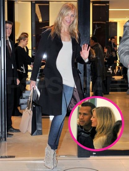 Pictures of Cameron Diaz and Alex Rodriguez at a Gallery and Shopping at Chanel in Paris