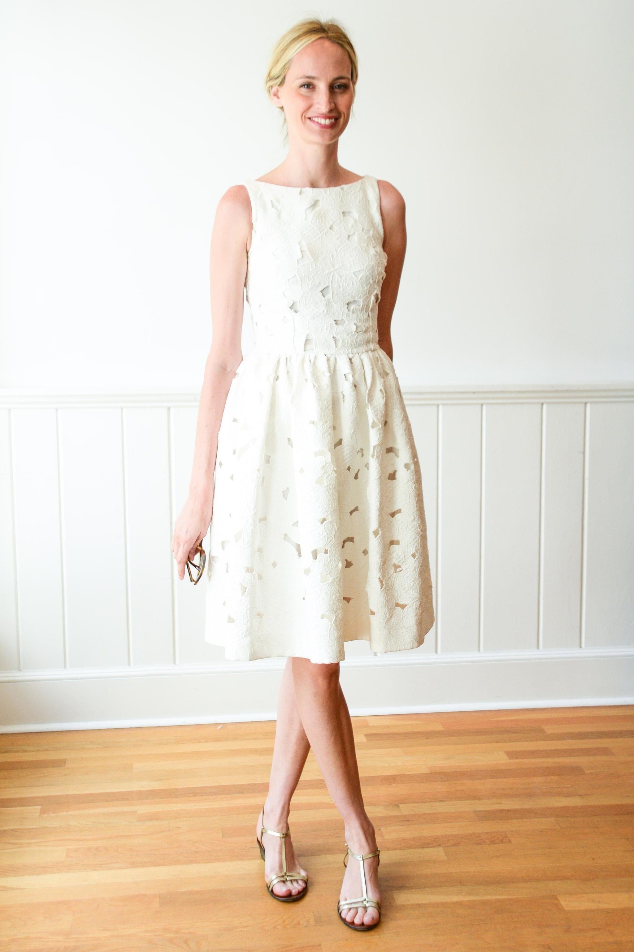 Lauren Santo Domingo caught our eye in her embroidered LWD at Dolce & Gabbana's Southampton event.