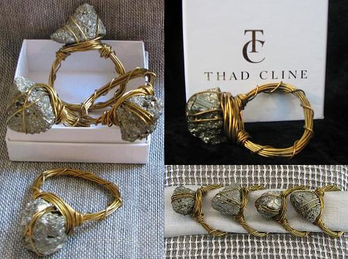 Crave Worthy: Pyrite Napkin Rings