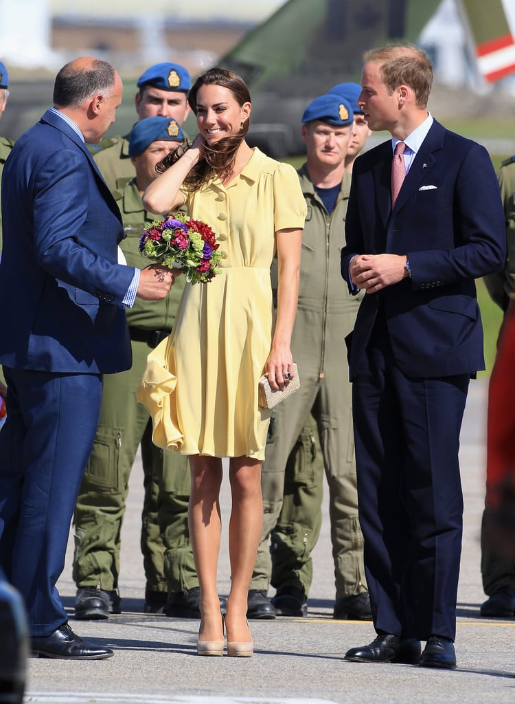Kate Middleton and Prince William landed in Calgary.