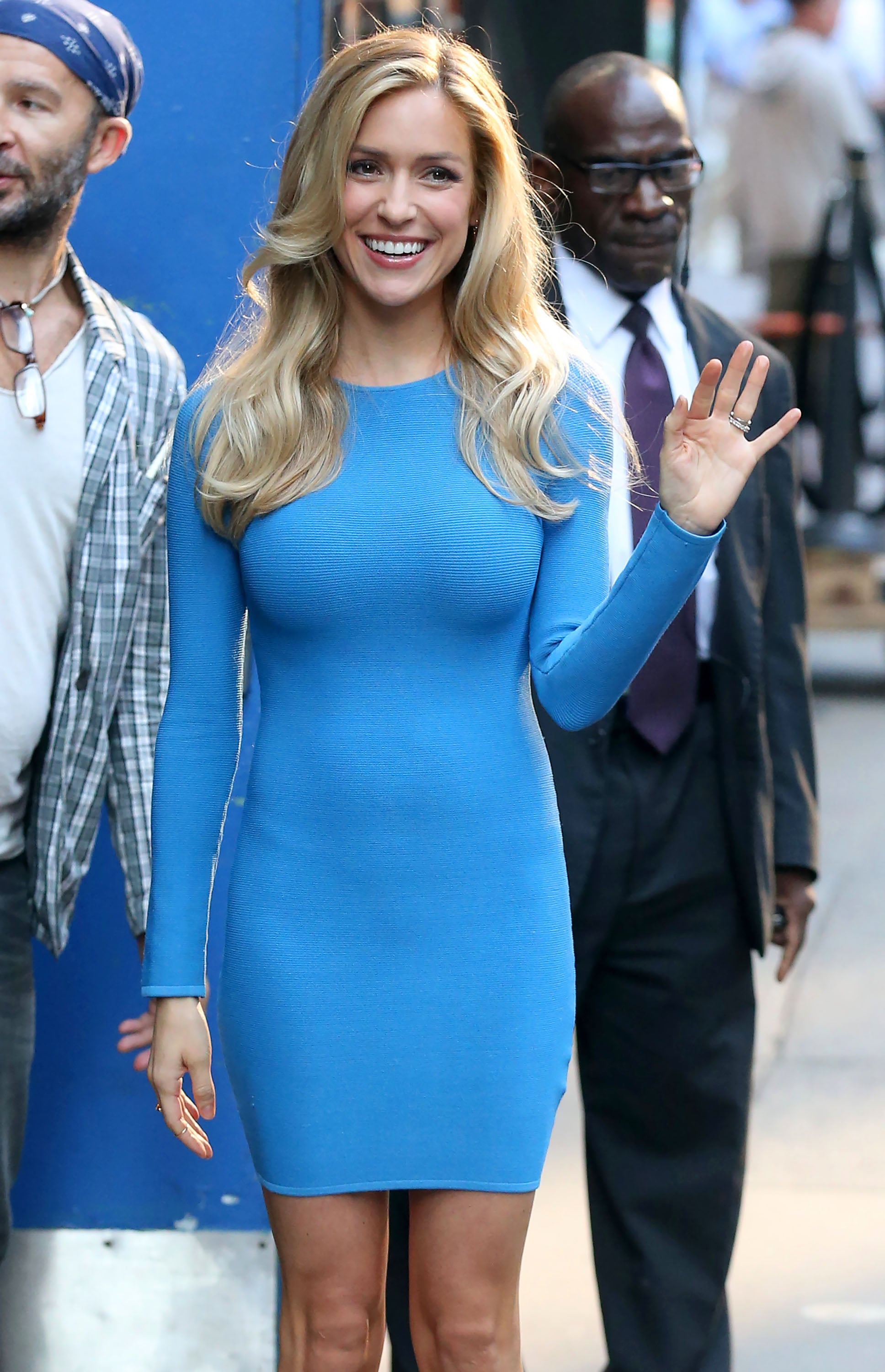 Kristin Cavallari was fresh-faced outside the NYC set of Good Morning America on Monday.