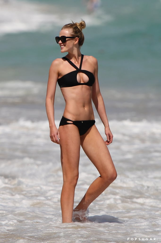 Anne V rocked a bikini, even though she had the day off from shooting for Sports Illustrated.