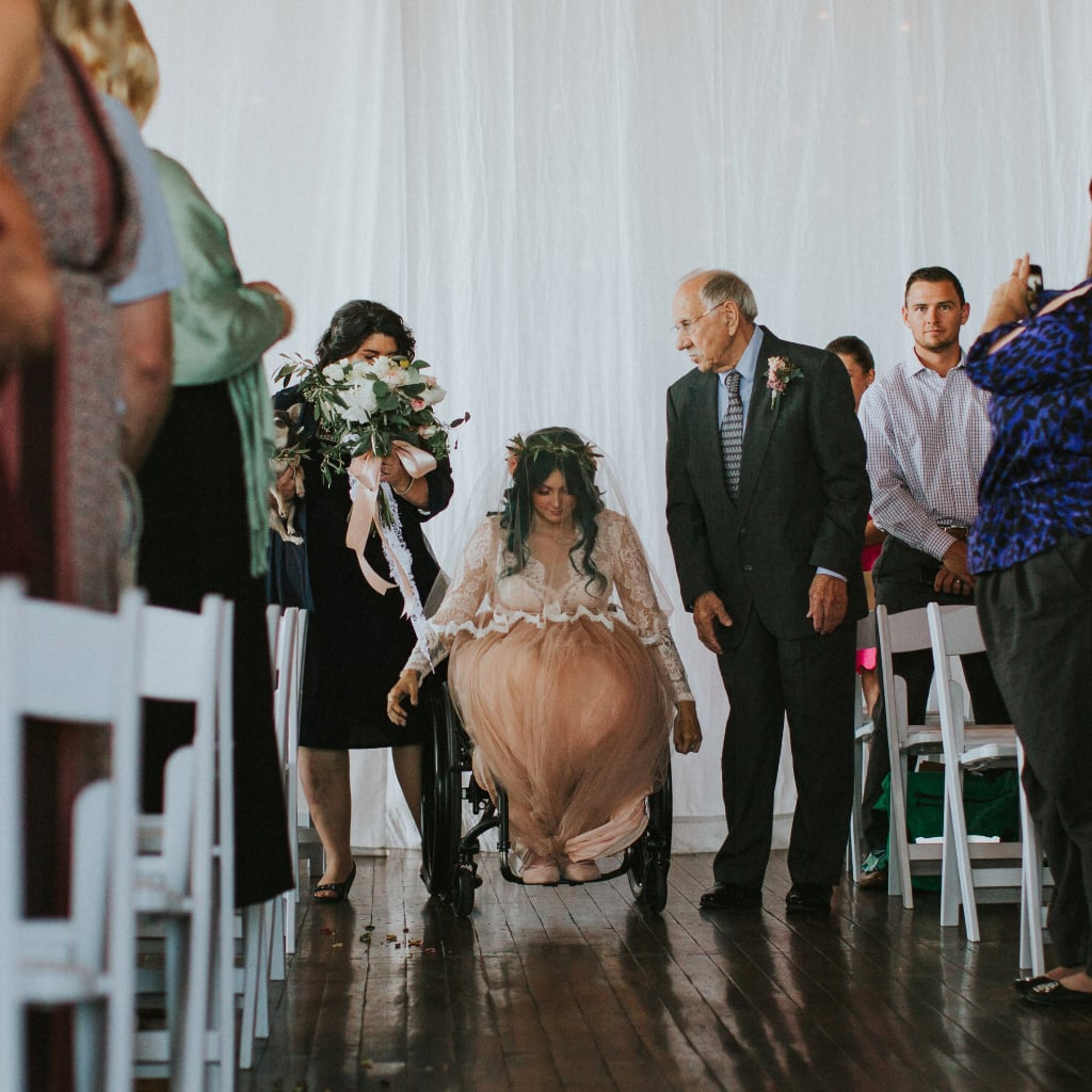 What Song Do Brides Walk Down The Aisle To: Bride Leaves Wheelchair To Walk Down The Aisle