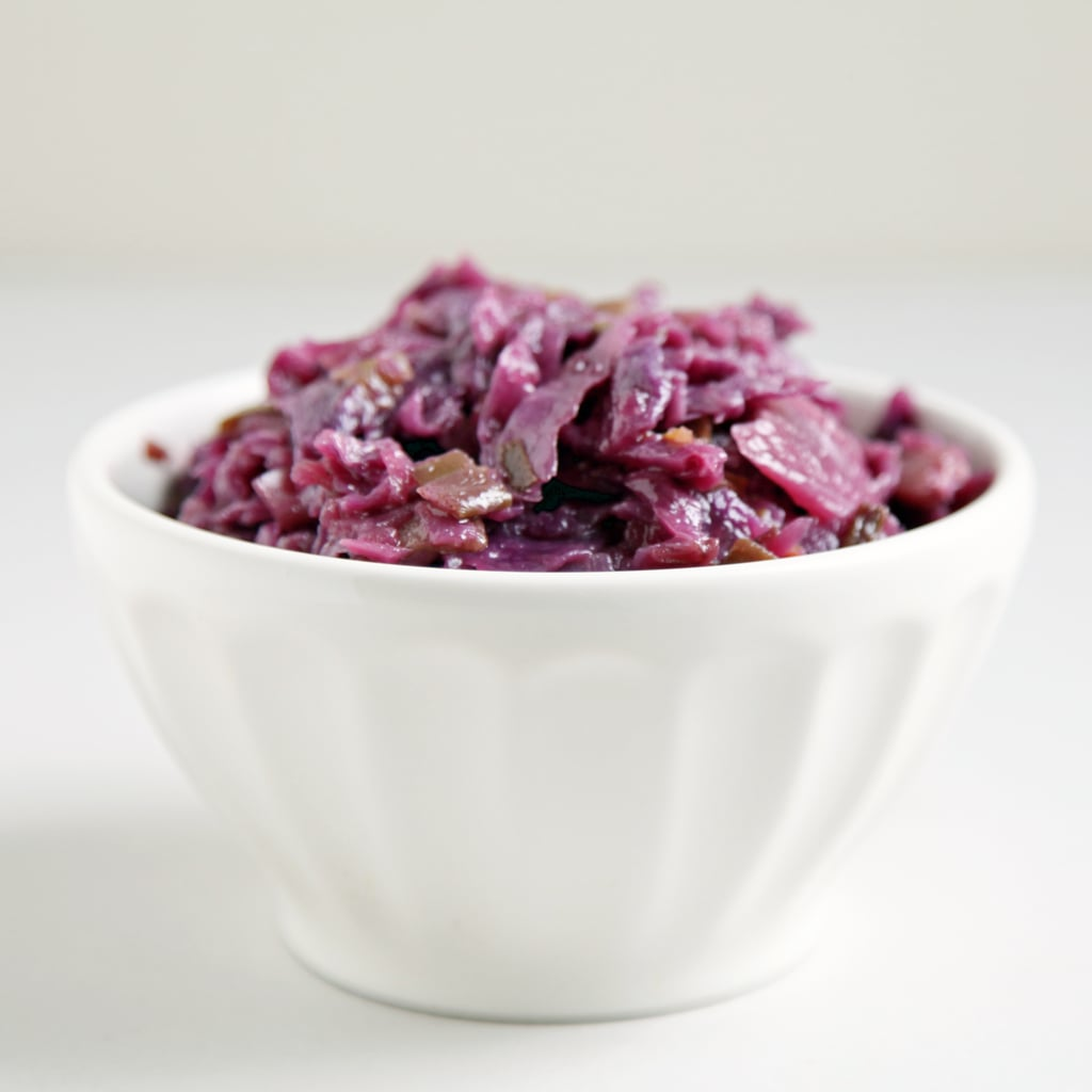 Red Cabbage Braised With Maple, Ginger, and Bacon