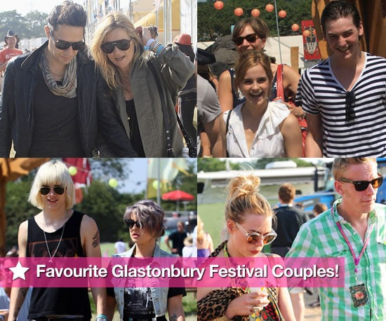 Pictures of Famous Couples at Glastonbury Festival 2010 Including Kate Moss and Jamie Hince, Emma Watson and George Craig