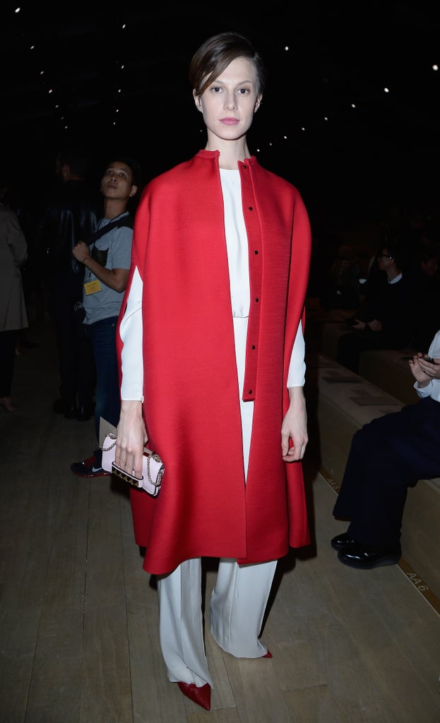 Elettra Wiedemann went slouchy in boxy designs at the Valentino runway show.