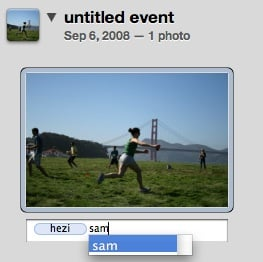 iPhoto Uses Hotkeys to Tag Photos Easily