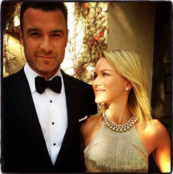 Liev Schreiber and Naomi Watts were a Golden Globes golden couple. Source: Instagram user patidubroff