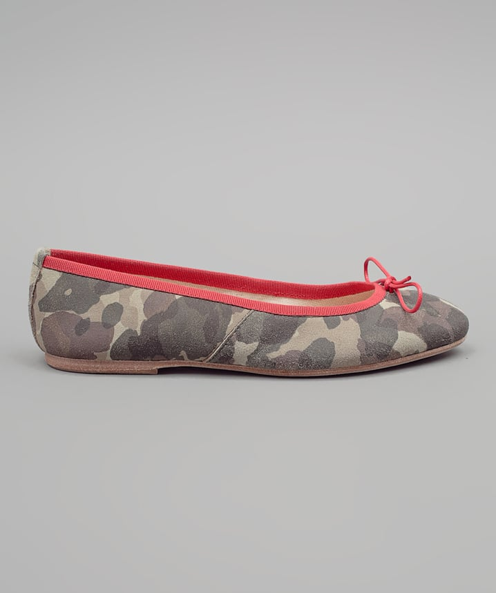 We love that this Madison et Cie Camo Ballet Flat ($165) walks the line between classic, girlie, and totally on-trend.
