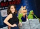 Tina Fey traveled to LA to premiere Muppets Most Wanted with her puppet friends on Tuesday.
