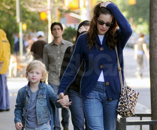 Slide Picture of Liv Tyler and Milo Langdon in Denim Outfits