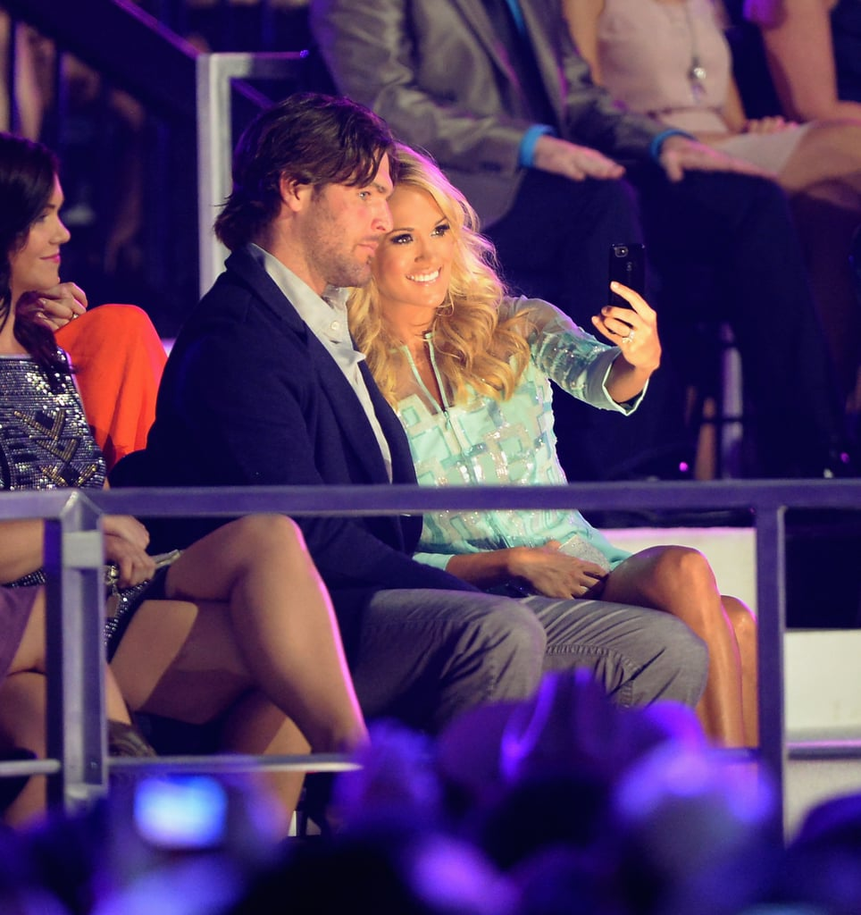 Carrie Underwood snapped a selfie with her husband, Mike Fisher.