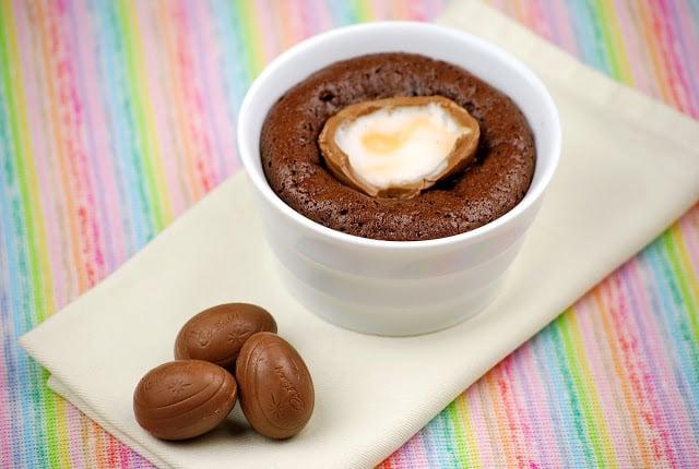 Cadbury Egg Chocolate Lava Cake