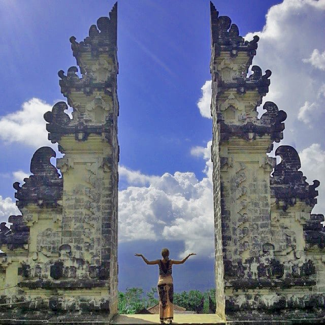 Step in the Middle of the Pura Lempuyang in Indonesia