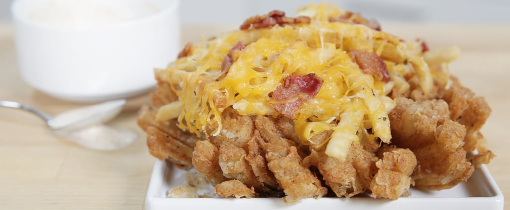 Hacking Outback's Blooming Onion Topped With Bacon Cheese Fries