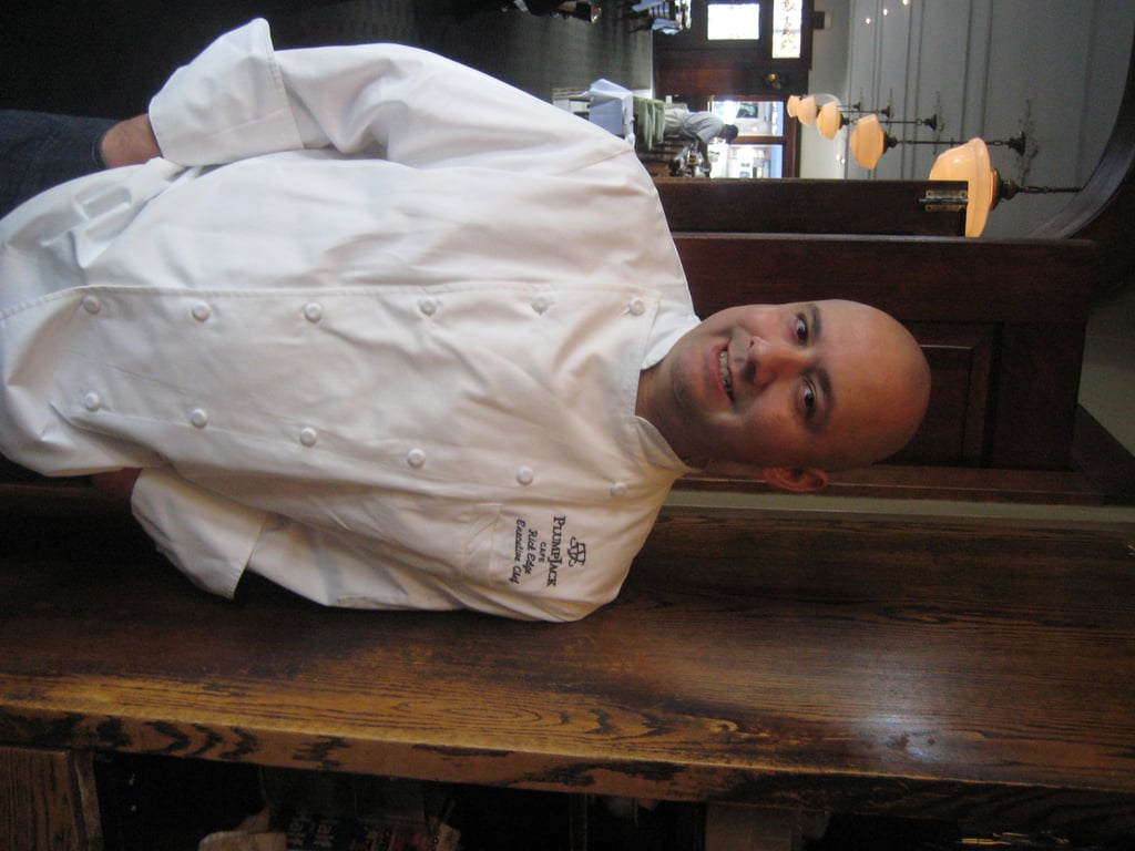 """Chef Rick Edge of <a href=""""http:/... Cafe</a> made vegetarian chili."""