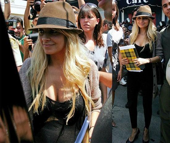 Nicole Richie And Her Paparazzi Swarm Dine In LA