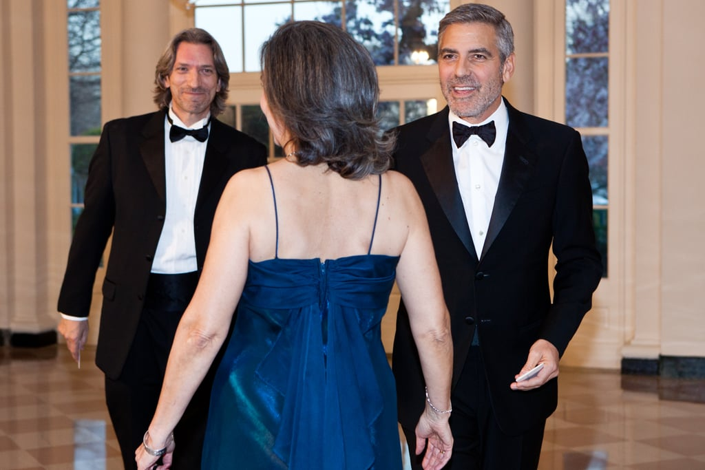 George Clooney, John Legend, and More Stars Go Black Tie For the White House State Dinner