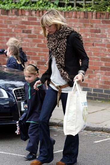 Kate Moss and daughter Lila ran errands back home in London.