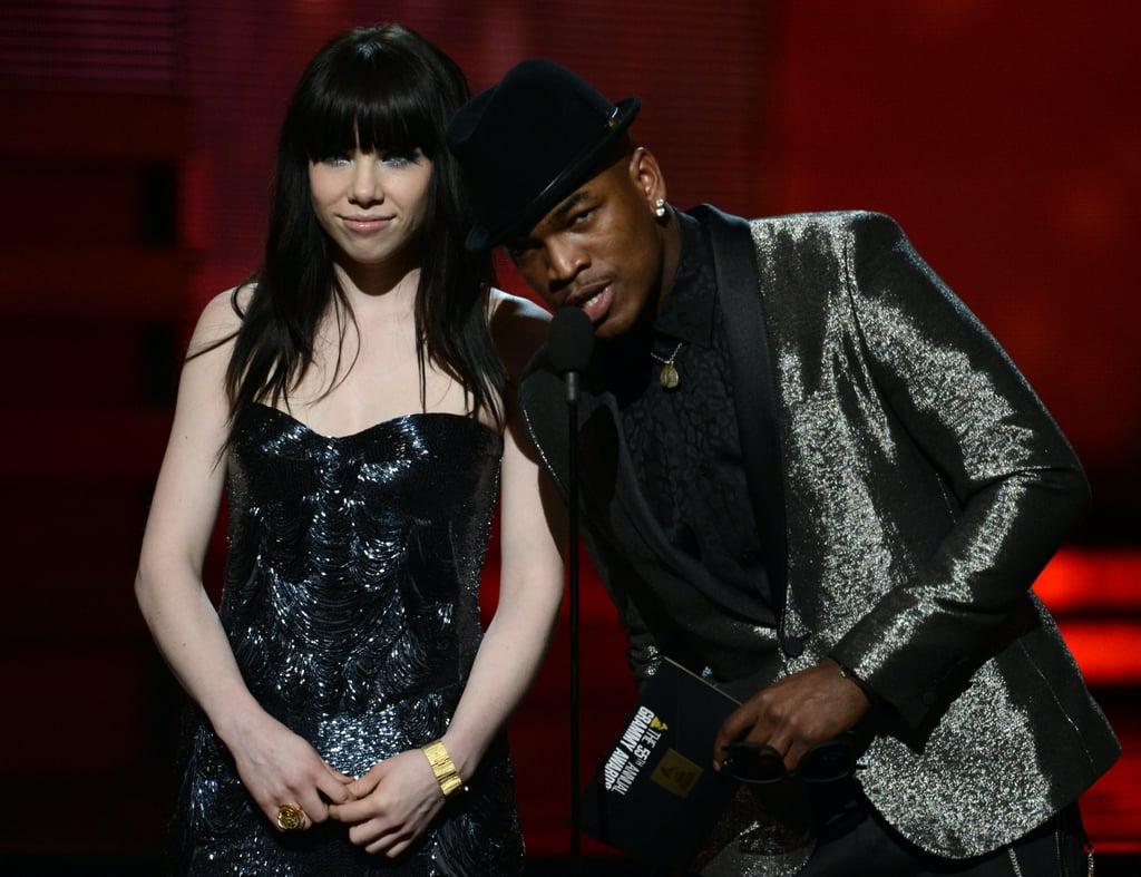 Carly Rae Jepsen and Ne-Yo presented together.