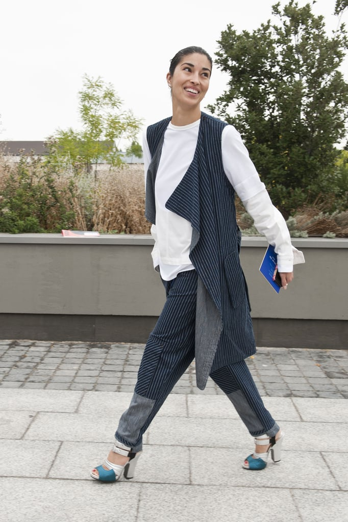 Caroline Issa did menswear with easy proportions.
