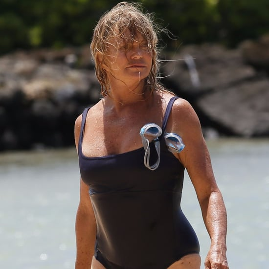 Goldie Hawn on the Beach in Hawaii July 2016