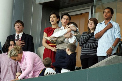 Family Ties: Tom Cruise and Katie Holmes Celebrate With Kids