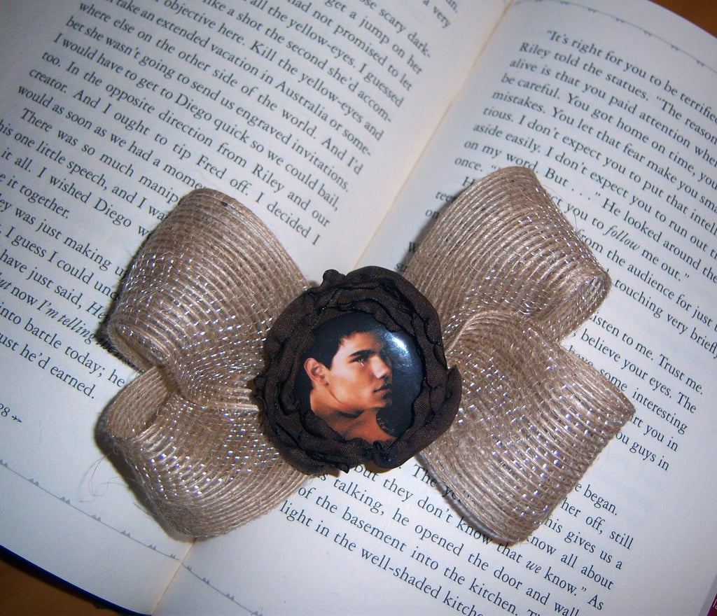 Twilight Series: Jacob Brown Flower Hair Bow, $5