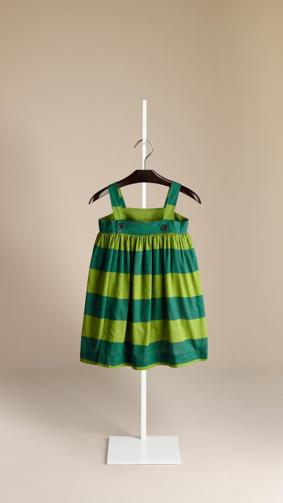 Wide stripes and bright colors make this Burberry sundress ($215) a playful addition to her wardrobe.