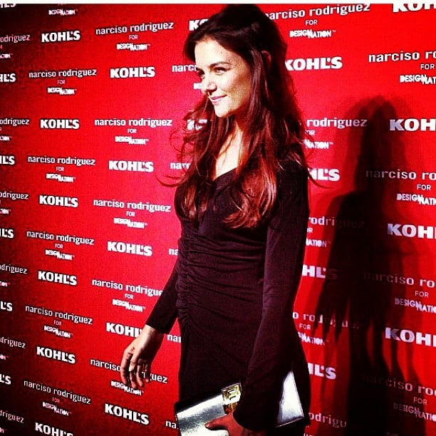 Katie Holmes looked stunning as usual in a body-conscious LBD at the Narciso Rodriguez for Kohl's collection launch.