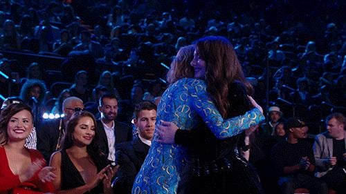 And Taylor was more excited about Lorde's win than Lorde was.