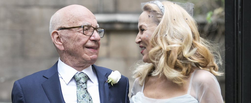 Jerry Hall Just Pulled the Most Relatable Bridal Fashion Move