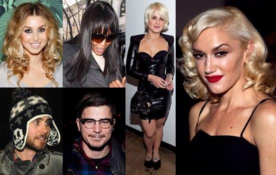 Photos de Célébrités au premier rang de la Fashion Week de New York Automne 2010 Gwen Stefani, Kelly Osbourne, Red Dress Show