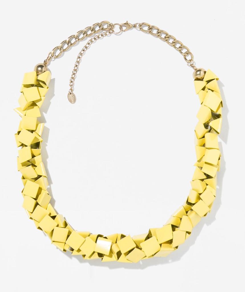 Zara yellow metallic necklace ($30)