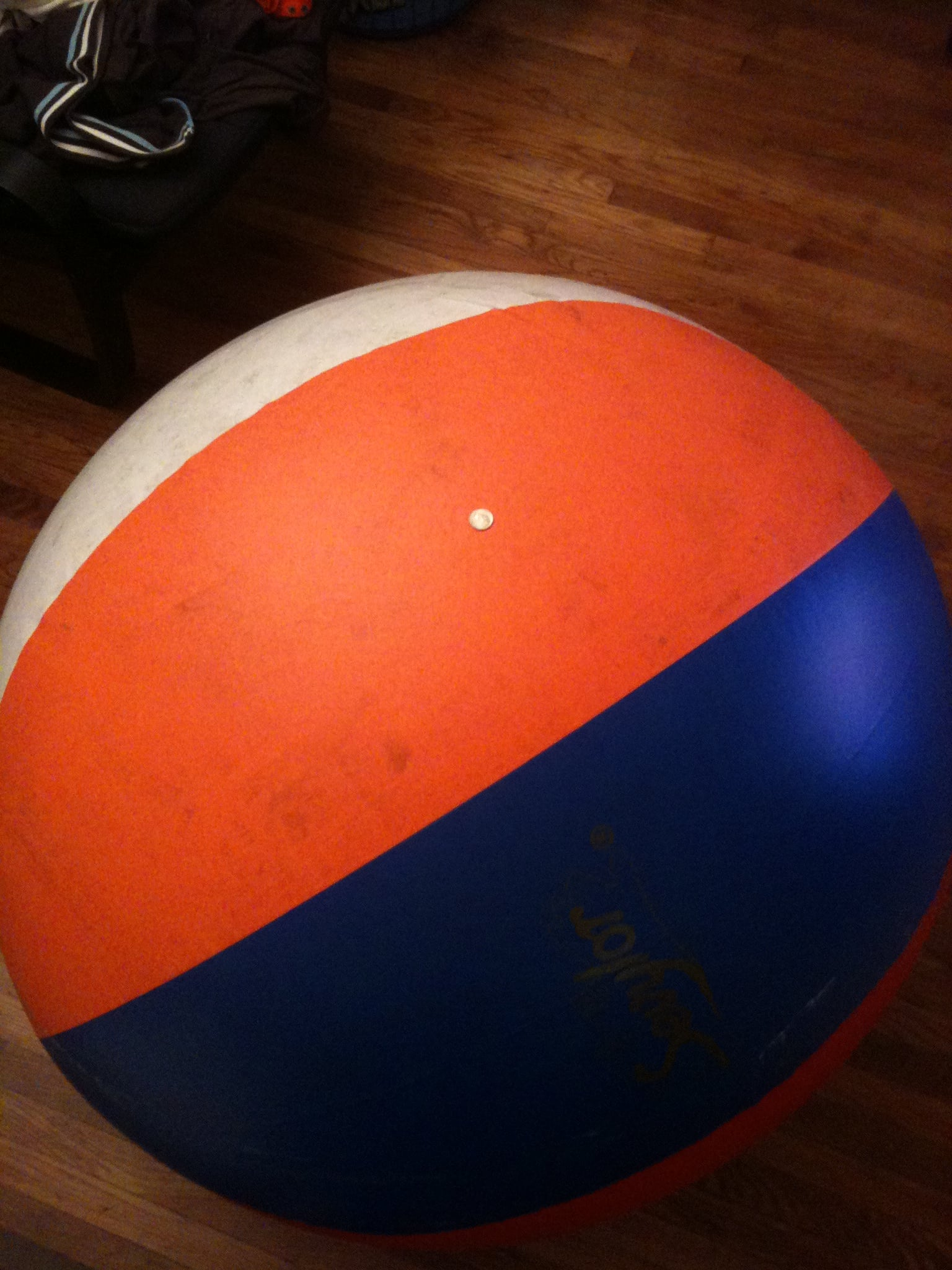 Step 1: Find and inflate a giant beach ball
