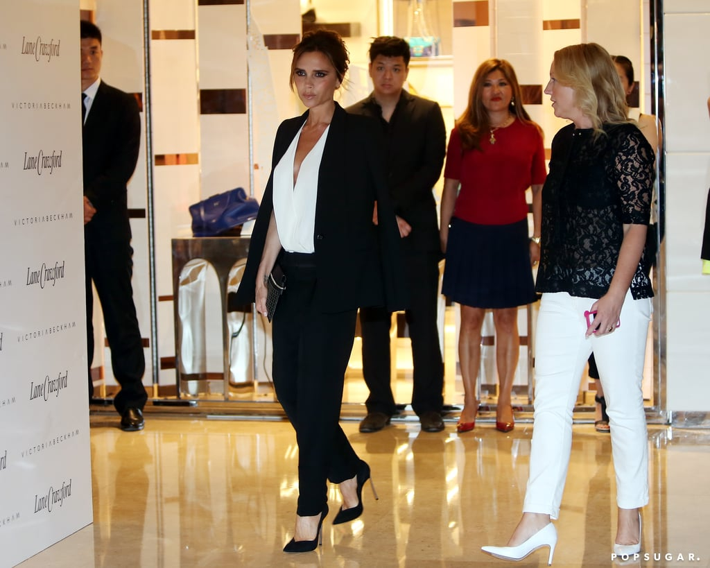Victoria Beckham popped up at a department store in Beijing.