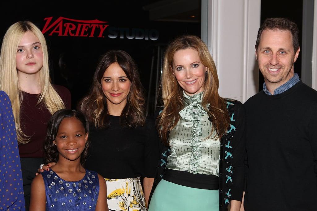 Elle Fanning, Quvenzhane Wallis, Rashida Jones, Leslie Mann and Jon Weisman were at the Variety Studio in LA.