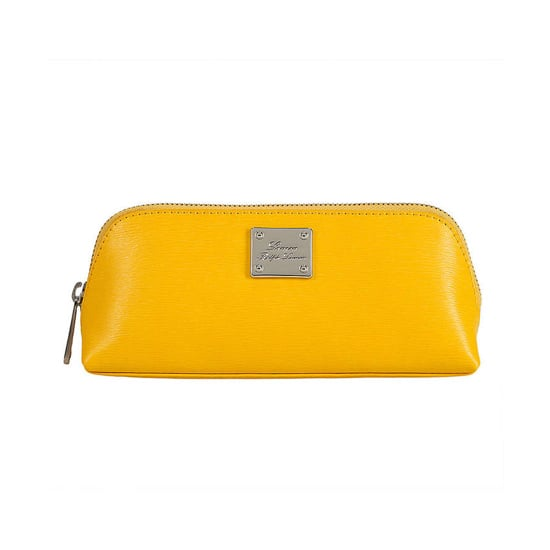 Your cosmetics deserve to fly first class in this Lauren Ralph Lauren Leather Cosmetic Case ($68). With bright shades like lemon and orange, you'll be having Summer dreams long before you get to the beach. — JC