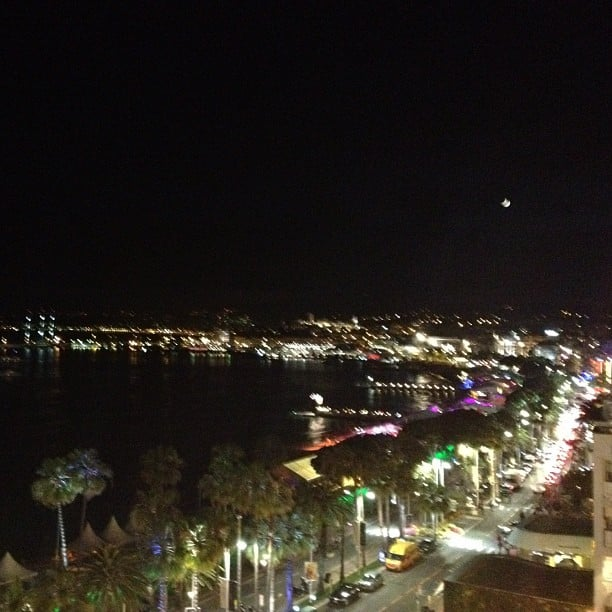 The view from the Hotel Martinez, where stars like Eva Longoria stayed, was gorgeous even at night.