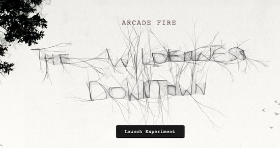"Arcade Fire's ""The Wilderness Downtown"" Video Experience"