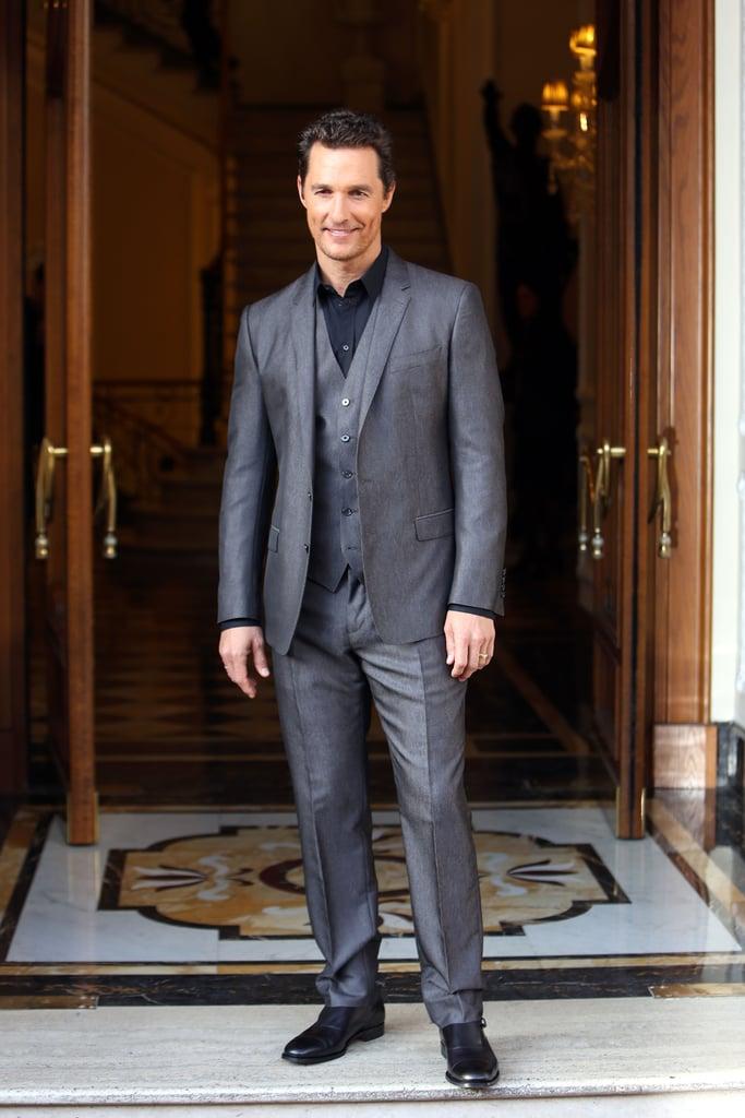 Matthew McConaughey at the Dallas Buyers Club Rome Photocall