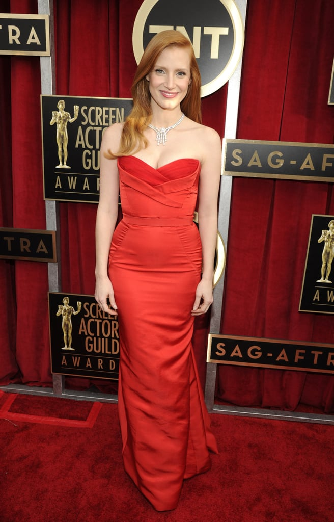Jessica Chastain attended the 2013 SAG Awards.