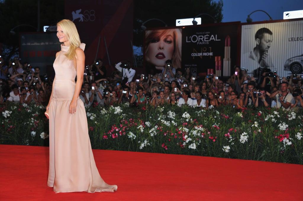 Gwyneth Paltrow wears Prada at the Contagion premiere.