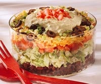 Fast & Easy Dinner: Layered Taco Salad