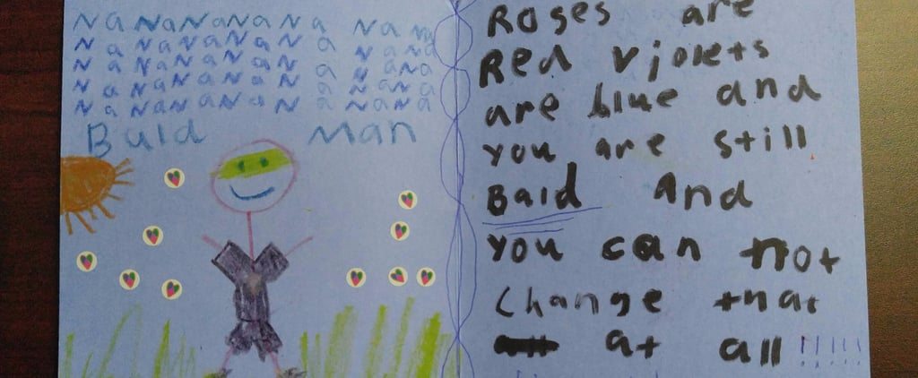 1 Kid Criticized Her Uncle's (Lack of) Hair in a Hilarious Handwritten Note