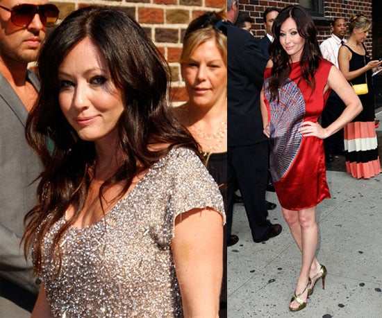 Photos and Video of Shannen Doherty of 90210 on Letterman