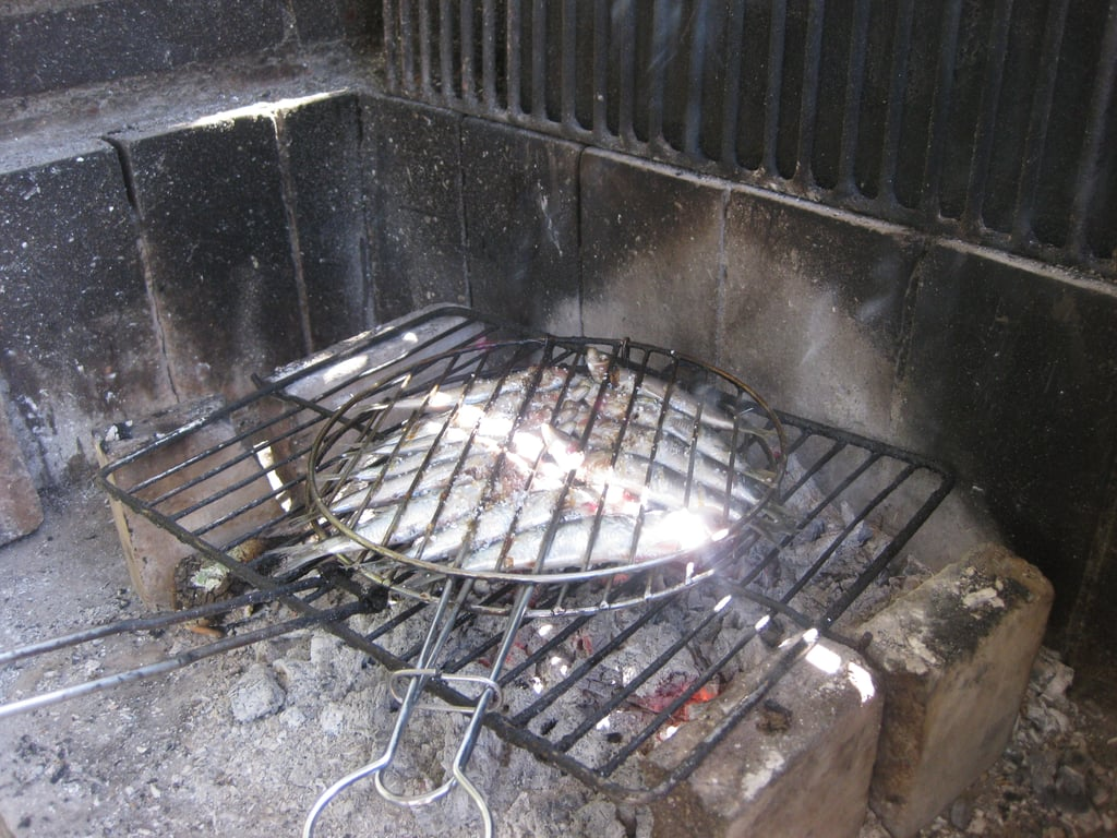 Place the grill basket directly over the heat.